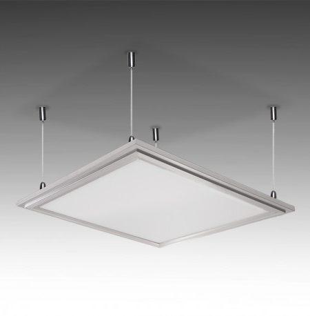 Painel LED 30x30cm 12W 1000Lm com kit de suspensão